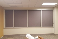 Roller Shades with Rm Darkening Side Channels